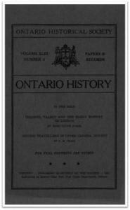 Ontario History 1951 v43 n4 October Cover