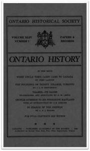 Ontario History 1952 v44 n1 January Cover