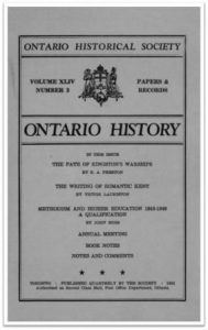 Ontario History 1952 v44 n3 July Cover