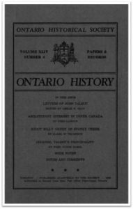 Ontario History 1952 v44 n4 October Cover