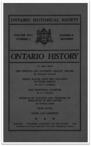 Ontario History 1953 v45 n1 Winter Cover