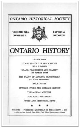 Ontario History 1953 v45 n2 Spring Cover
