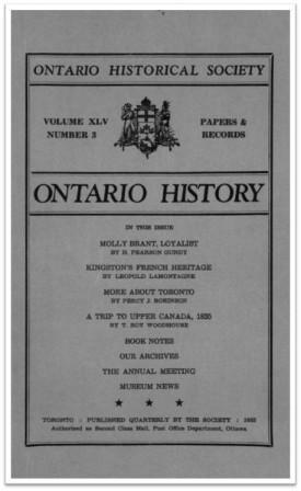 Ontario History 1953 v45 n3 Summer Cover