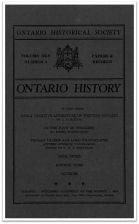 Ontario History 1953 v45 n4 Autumn Cover