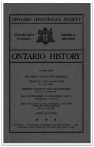 Ontario History 1954 v46 n1 Winter Cover