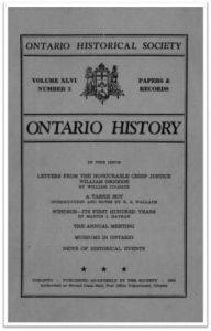 Ontario History 1954 v46 n3 Summer Cover