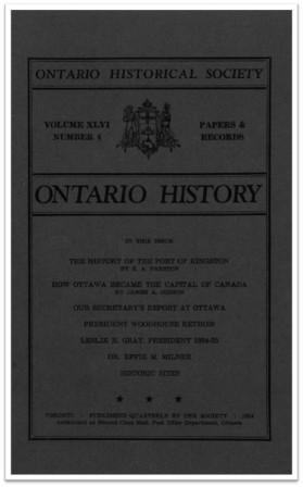 Ontario History 1954 v46 n4 Autumn Cover