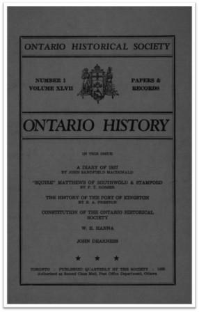 Ontario History 1955 v47 n1 Winter Cover