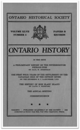 Ontario History 1955 v47 n3 Summer Cover