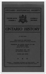 Ontario History 1955 v47 n4 Autumn Cover