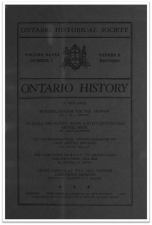 Ontario History 1956 v48 n1 Winter Cover