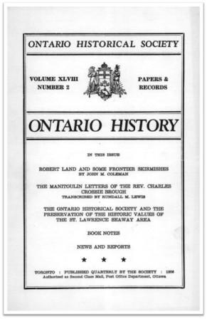 Ontario History 1956 v48 n2 Spring Cover