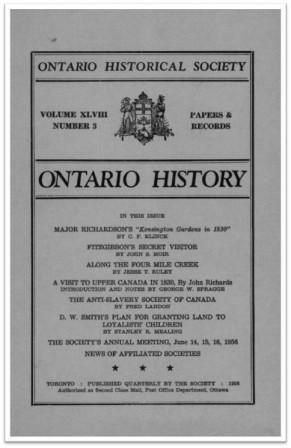 Ontario History 1956 v48 n3 Summer Cover