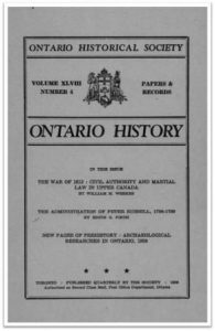 Ontario History 1956 v48 n4 Autumn Cover