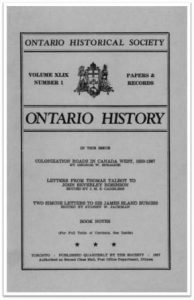 Ontario History 1957 v49 n1 Winter Cover