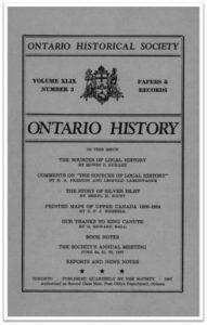 Ontario History 1957 v49 n3 Summer Cover