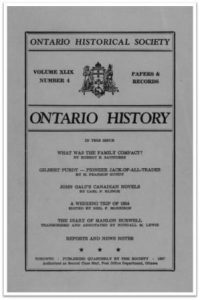 Ontario History 1957 v49 n4 Autumn Cover