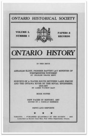 Ontario History 1958 v50 n1 Winter Cover
