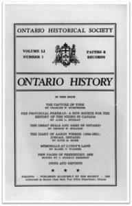 Ontario History 1959 v51 n1 Winter Cover