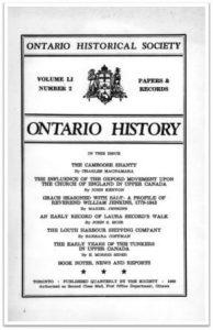 Ontario History 1959 v51 n2 Spring Cover