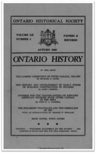 Ontario History 1960 v52 n4 December Cover