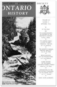 Ontario History 1962 v54 n3 September Cover