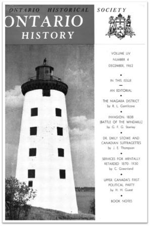 Ontario History 1962 v54 n4 December Cover