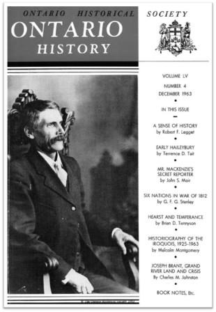 Ontario History 1963 v55 n4 December Cover