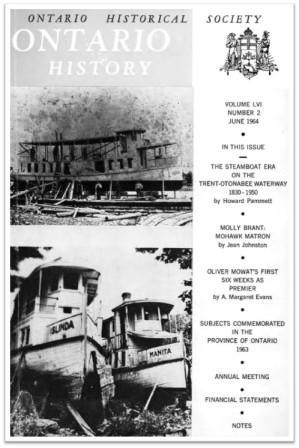 Ontario History 1964 v56 n2 June Cover