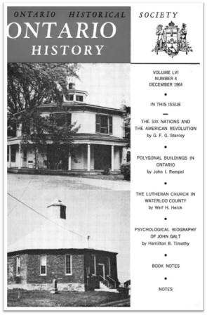 Ontario History 1964 v56 n4 December Cover
