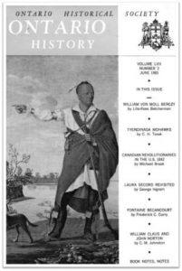 Ontario History 1965 v57 n2 June Cover