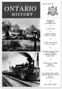 Ontario History 1965 v57 n3 September Cover