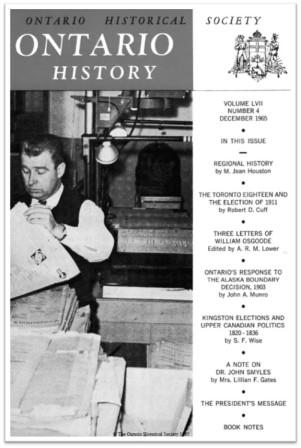 Ontario History 1965 v57 n4 December Cover