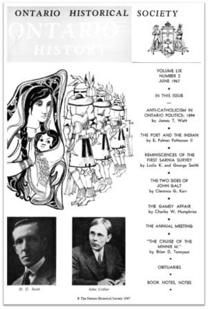 Ontario History 1967 v59 n2 June Cover