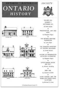 Ontario History 1971 v63 n3 September Cover