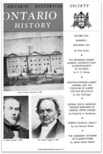 Ontario History 1971 v63 n4 December Cover