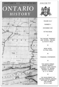Ontario History 1972 v64 n4 December Cover