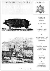 Ontario History 1974 v66 n2 June Cover