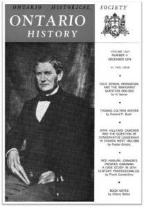 Ontario History 1974 v66 n4 December Cover