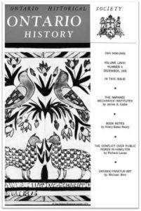 Ontario History 1976 v68 n4 December Cover