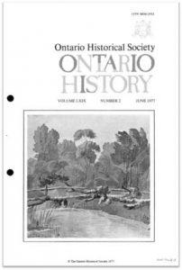 Ontario History 1977 v69 n2 June Cover