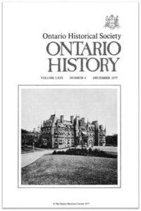 Ontario History 1977 v69 n4 December Cover