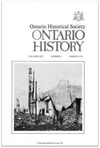 Ontario History 1978 v70 n1 March Cover