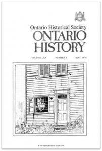Ontario History 1978 v70 n3 September Cover