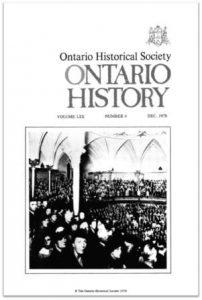 Ontario History 1978 v70 n4 December Cover