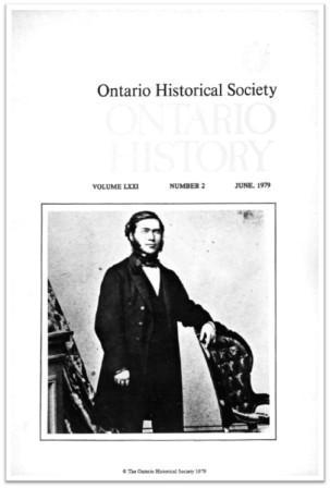 Ontario History 1979 v71 n2 June Cover