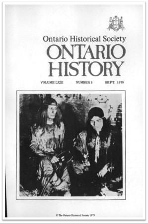 Ontario History 1979 v71 n3 September Cover