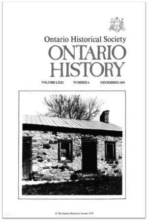 Ontario History 1979 v71 n4 December Cover