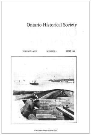 Ontario History 1980 v72 n2 June Cover