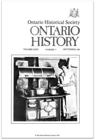 Ontario History 1980 v72 n3 September Cover